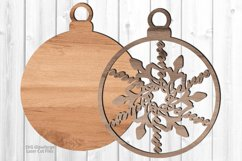 Christmas Believe Snowflake Ornament SVG Glowforge Files Product Image 2