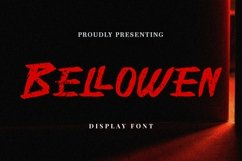 Web Font Bellowen - Halloween Font Product Image 1