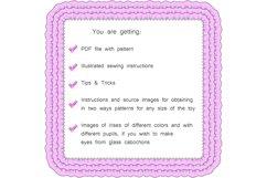 Ladybug PDF Plush Pattern Resizing Product Image 4