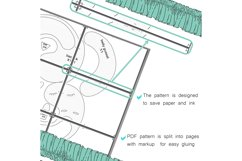 Peacock PDF Plush Pattern Resizing Product Image 5