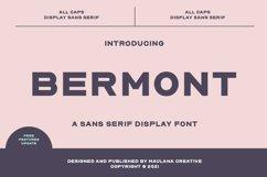 Bermont Sans Serif Display Font Product Image 1