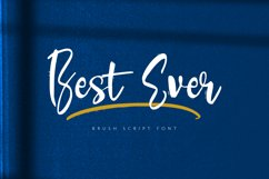 Best Ever - A Stylish Handwritten Font Product Image 1