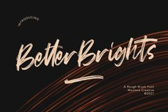 Better Brights Brush Font Product Image 1