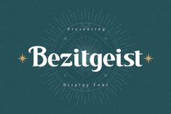 Web Font Bezitgeist - Display Font Product Image 1