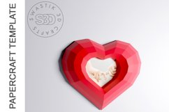 PDF Template of heart with image /Gift heart Papercraft Product Image 2