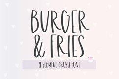 BURGER & FRIES Playful Brush Font Product Image 1
