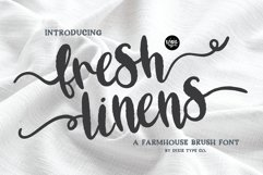 FRESH LINENS a Bold Distressed Farmhouse Font Product Image 1