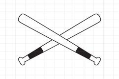 Baseball Crossed Bats SVG cut file. Product Image 1