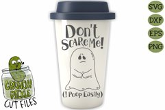 Don't Scare Me I poop Easily Ghost Halloween SVG Product Image 3