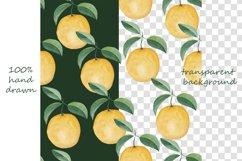 Watercolor citrus clipart Orange digital paper Product Image 4