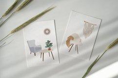 Bohemian Decor Illustrations, interior design, furniture cli Product Image 4