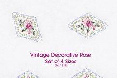 Vintage Antique Floral Decorative Single Rose Product Image 1