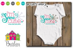 I'm Snow Cute Winter SVG File Product Image 1