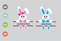 Easter Bunny Svg, Easter Monogram Svg Product Image 1