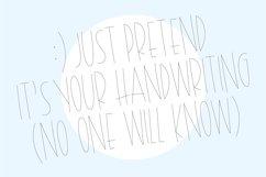"""SHIPLAP SKETCH"" Sketch Font - Single Line/Hairline Font Product Image 2"