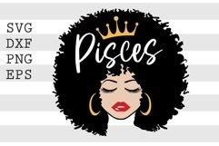 Black Queen Pisces SVG Product Image 1