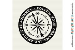 Follow Your Dreams and Enjoy the Journey - SVG DXF EPS PNG Product Image 2