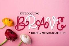 Brave - A Ribbon Monogram Font Product Image 1