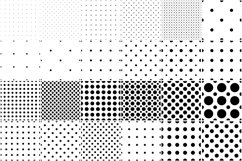 Set of dotted seamless patterns. Product Image 1