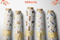 SCHOOL. Watercolor collection. Clipart, cards, patterns Product Image 11