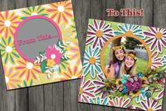 Flower Fever Digital Templates and Cuttables Product Image 4