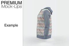 Women's Full-Zip Hoodie Mockup Product Image 4