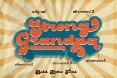 Strong Grandpa - Bold Retro Font Product Image 4