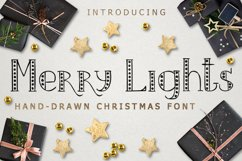 MERRY LIGHTS - hand drawn Christmas font Product Image 1