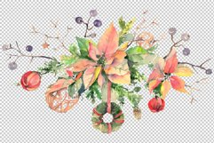 Christmas bouquet freezing day Watercolor png Product Image 2