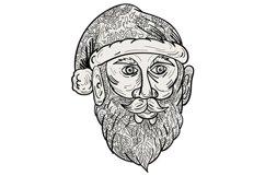 Santa Claus Head Mandala Product Image 1