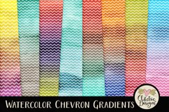 Watercolor Background Textures - Chevron Watercolor Papers Product Image 1