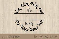 Family Monogram Bundle, Last Name Wreath Monogram Product Image 3