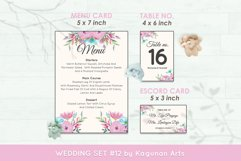 Wedding Invitation Set #12 Watercolor Floral Flower Style Product Image 6