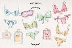 Lingerie Watercolor 13 Elements Perfume Panties Bras Lace Product Image 2