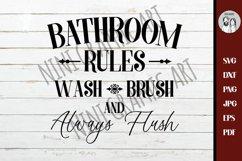 Bathroom SVG - Bath SVG - Rules Svg - Farmhouse Svg - Product Image 2
