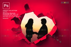 Torn Paper Overlay & Photoshop overlay valentines Product Image 5