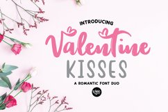 VALENTINE KISSES Valentines Day Font Duo Product Image 1