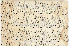 Music notes scrapbook paper, Vintage music digital paper Product Image 2