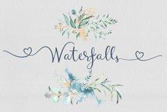 Waterfalls love font swash font Product Image 1