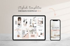 Ladyboss Pinterest Templates for Canva and Photoshop Product Image 5