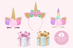 Unicorn Birthday Party Clip Art Product Image 5