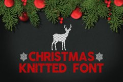 Christmas Knitted Font v4 Product Image 1