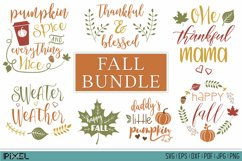 Fall Bundle SVG, Autumn Bundle, Thanksgiving, EPS DXF PNG Product Image 1