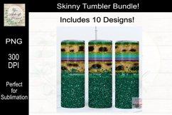 Leopard, Serape and Glitter Sublimation Tumbler Bundle Product Image 3