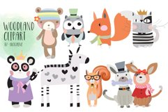 Woodland Clipart Animals clipart Product Image 1