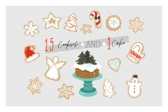 Christmas cookies vector collection Product Image 3