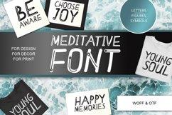 Meditative font - cute English font Product Image 1