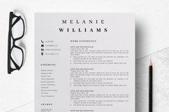 Resume Template Minimalist | CV Template Word - Melanie Product Image 3