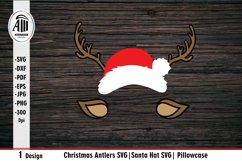 Christmas Antlers SVG  Santa Hat SVG  Pillowcase SVG Product Image 2