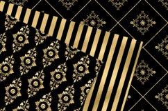 Victorian Black and Gold Digital Paper Product Image 2